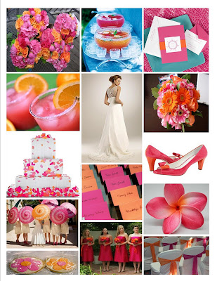 The Awesometastic Bridal Blog Pink and Mango