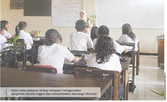 """Ada """"menu"""" komplet di SMPN 5 Semarang. Selain kelas dwibahasa"""