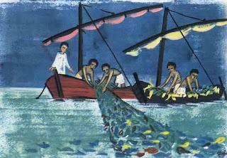 Michel blogue l'Évangile de la pêche miraculeuse/ point de vue des poissons… P%C3%AAche+miraculeuse+2