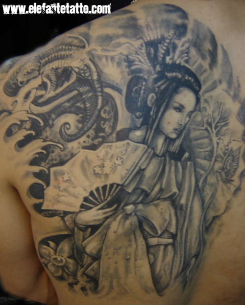 Gil tattoo oriental gilson gilraso tattoo - Stijl asiatique ...