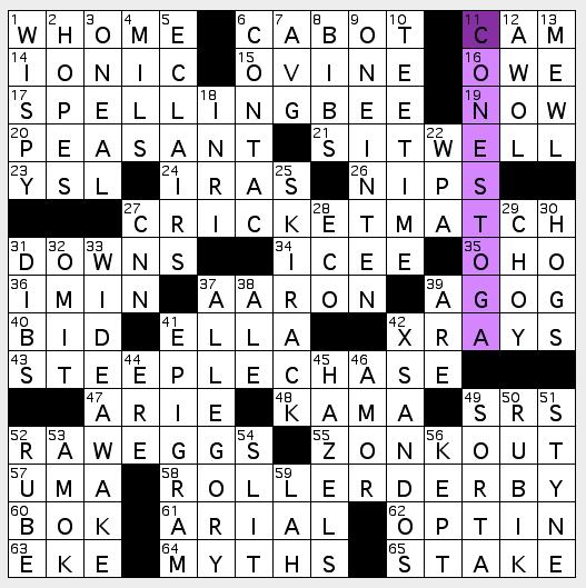 La crossword confidential july 2010 7292010 malvernweather Images