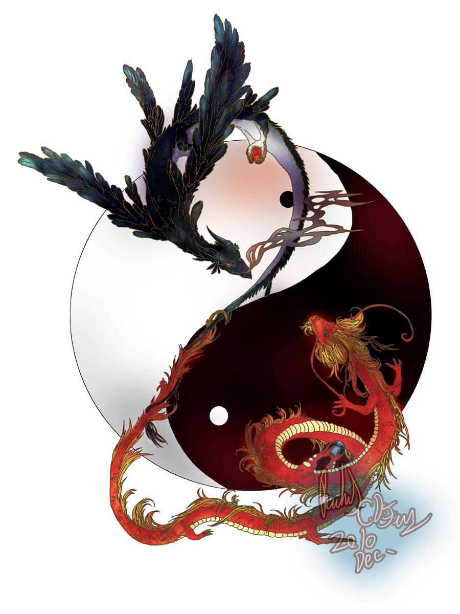 Dragon Yin Yang Tattoo Designs