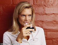 Have a glass of red wine a day may increase the chance of cancer