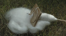 Mohair on a spindle