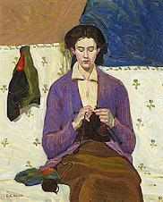 The Sock Knitter, 1915