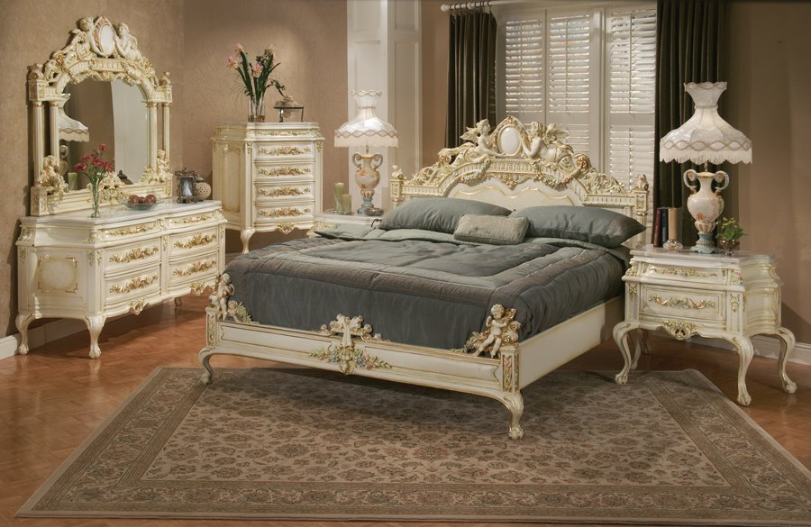 Victorian style classic bed room french design for Victorian furniture