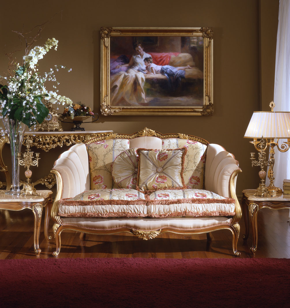 Antique french furniture french country family room design for Family room furniture