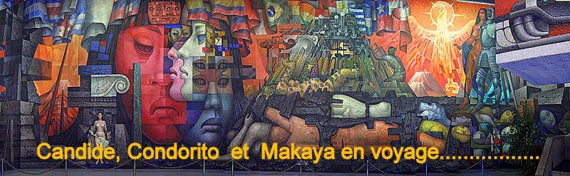 Candide, Condorito et Makaya en voyage