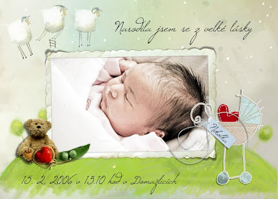 Oznámení o narození miminka...