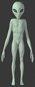 portrait alien grey full body