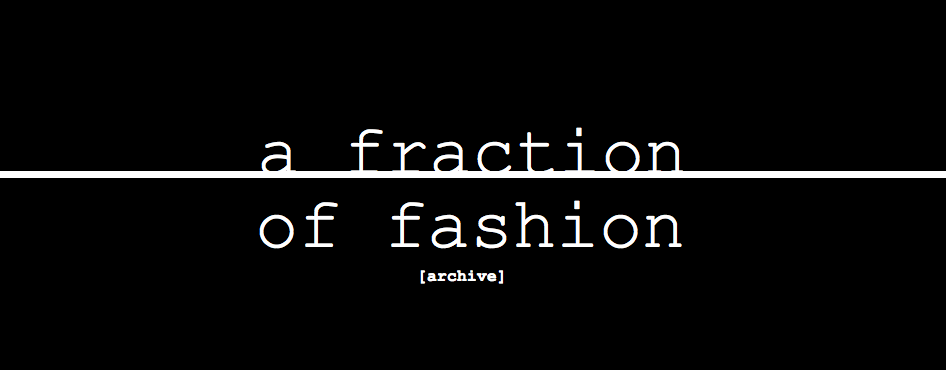 a fraction of fashion - archive