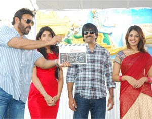 Ravi Teja's Mirapakay shooting launched