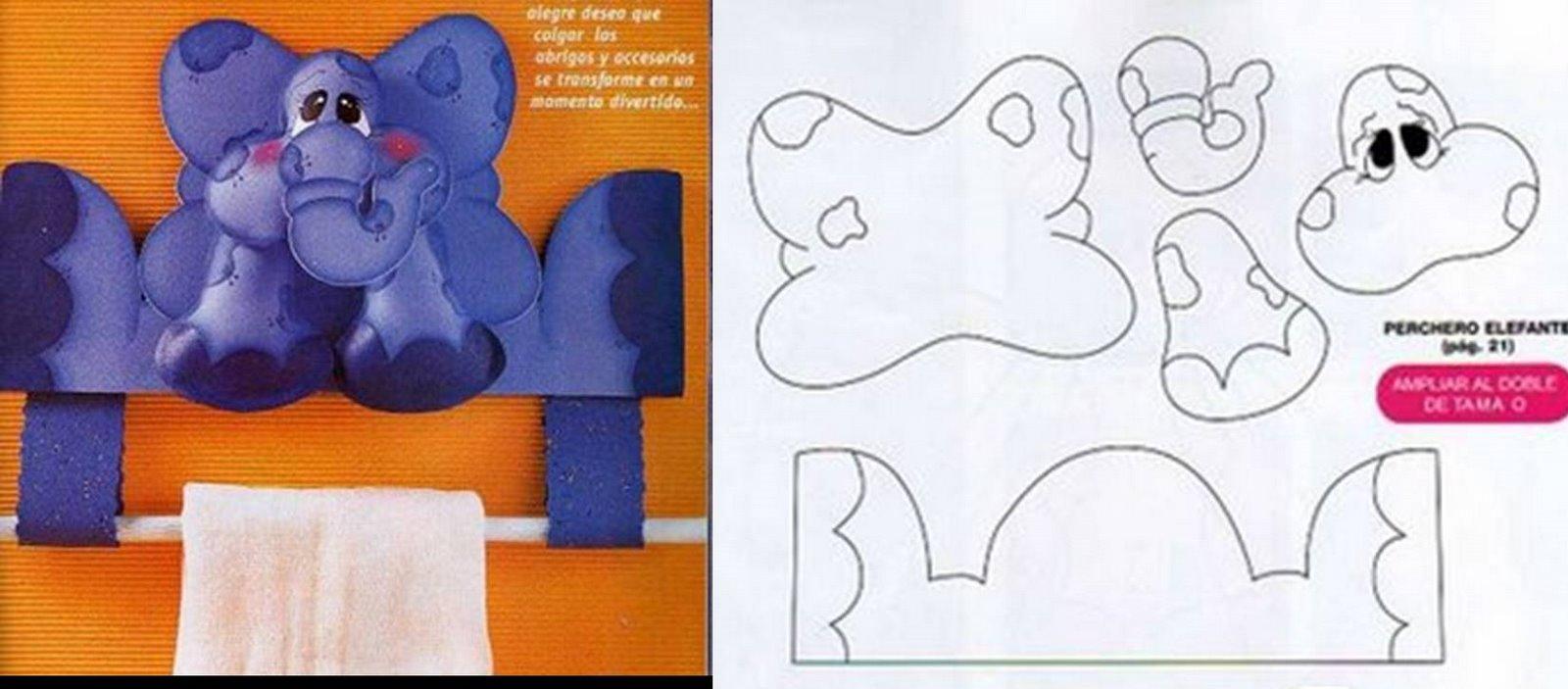elefantinho porta toalha