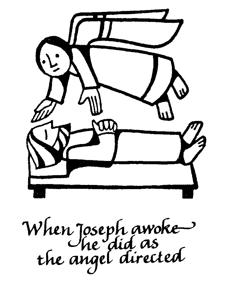 An angel comes to joseph coloring page coloring pages for Angel visits joseph coloring page