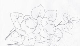 risco  rosas para pintar