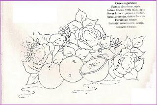 laranjas e rosas para pintar