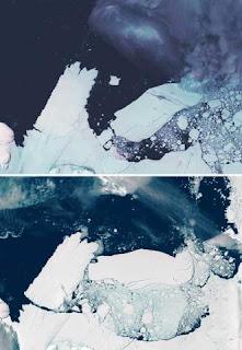 Colisão de icebergs