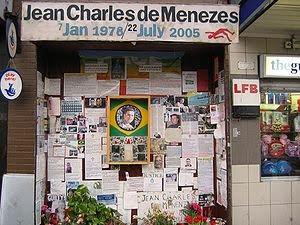Homenagem à Jean Charles na estação de Stockwell