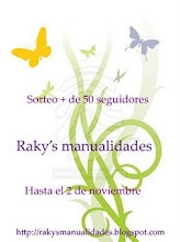 ¡¡¡GANADORA DEL 2º PREMIO EN EL SORTEO EN RAKY´S MANUALIDADES!!!