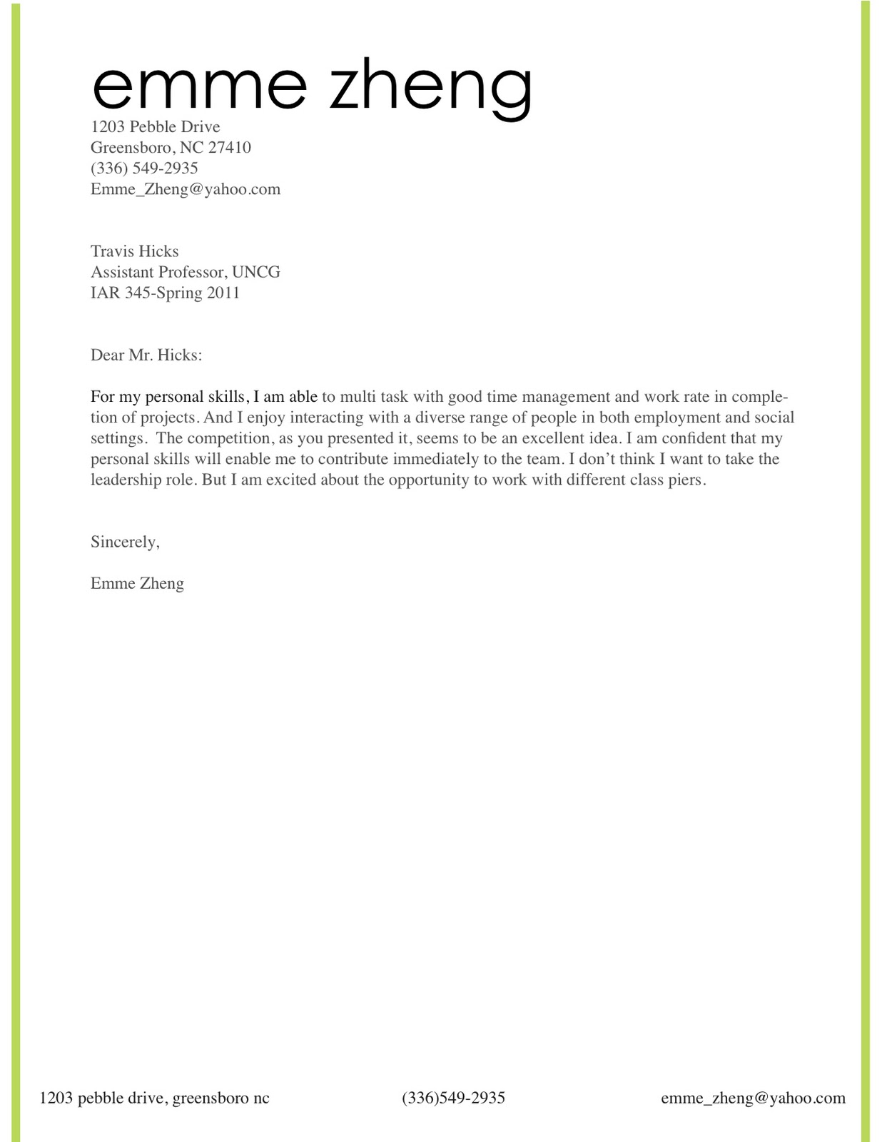 Professional Cover Page Template Professional Business Letter