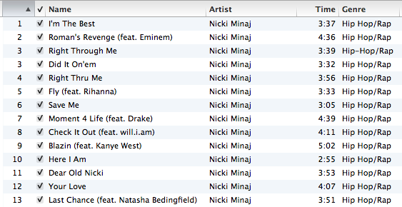 nicki minaj pink friday tracklist. Nicki Minaj - Pink Friday