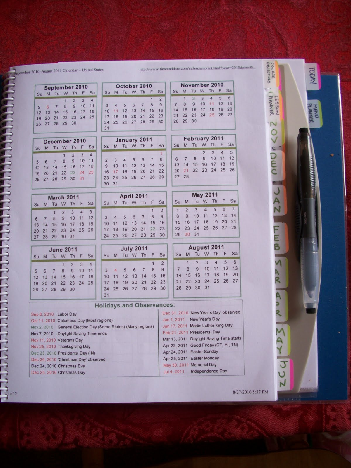 Diy Calendar Homeschool : Life on purpose and principle diy make your own