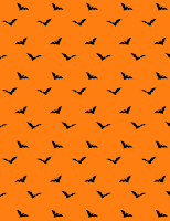 free orange Halloween scrapbooking paper with black bats