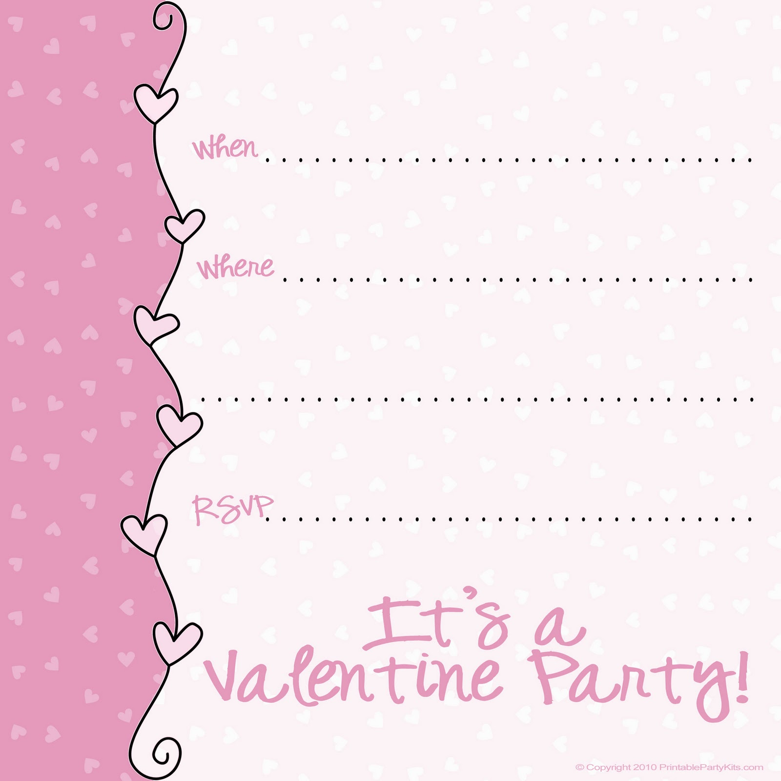 templates free printable templates valentines day party free