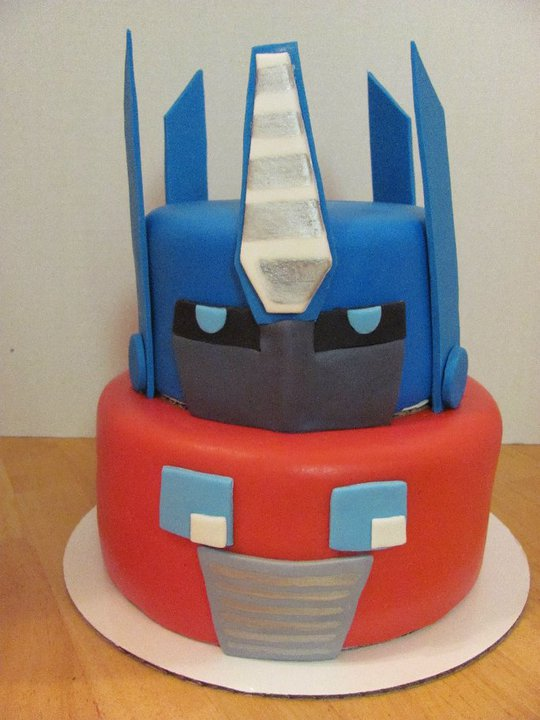 Whimsy Girls Cakes Optimus Prime Transformers Cake