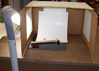 Light box with white poster board