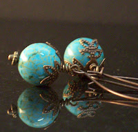 Turquoise Leafy Earrings