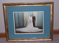 finished matted and framed wedding picture - click to enlarge