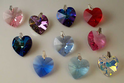 Variety of Swarovski Heart Pendants