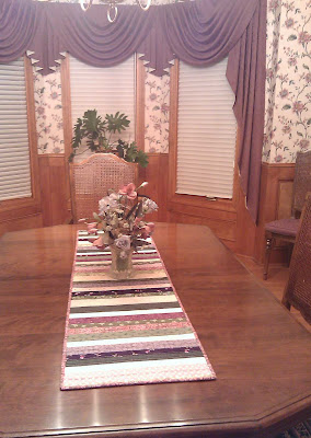 Table runner in dining room