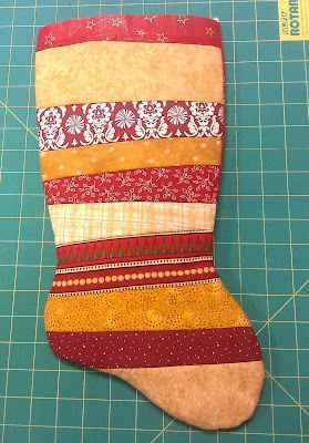 Stocking turned right side out