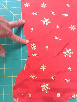 Where I left opening in lining seam