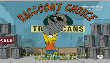 Bart y los cubos de basura