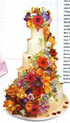 silk wedding cake flowers