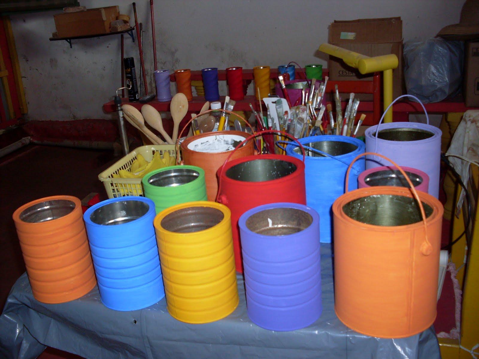 Crizartes pintura em latas de alum nio - Pintura para aluminio ...
