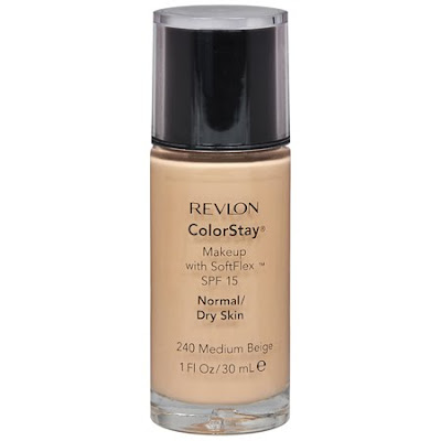 REVLON COLORSTAY FOUNDATION, $12.99. It does have SPF15 and it's inexpensive