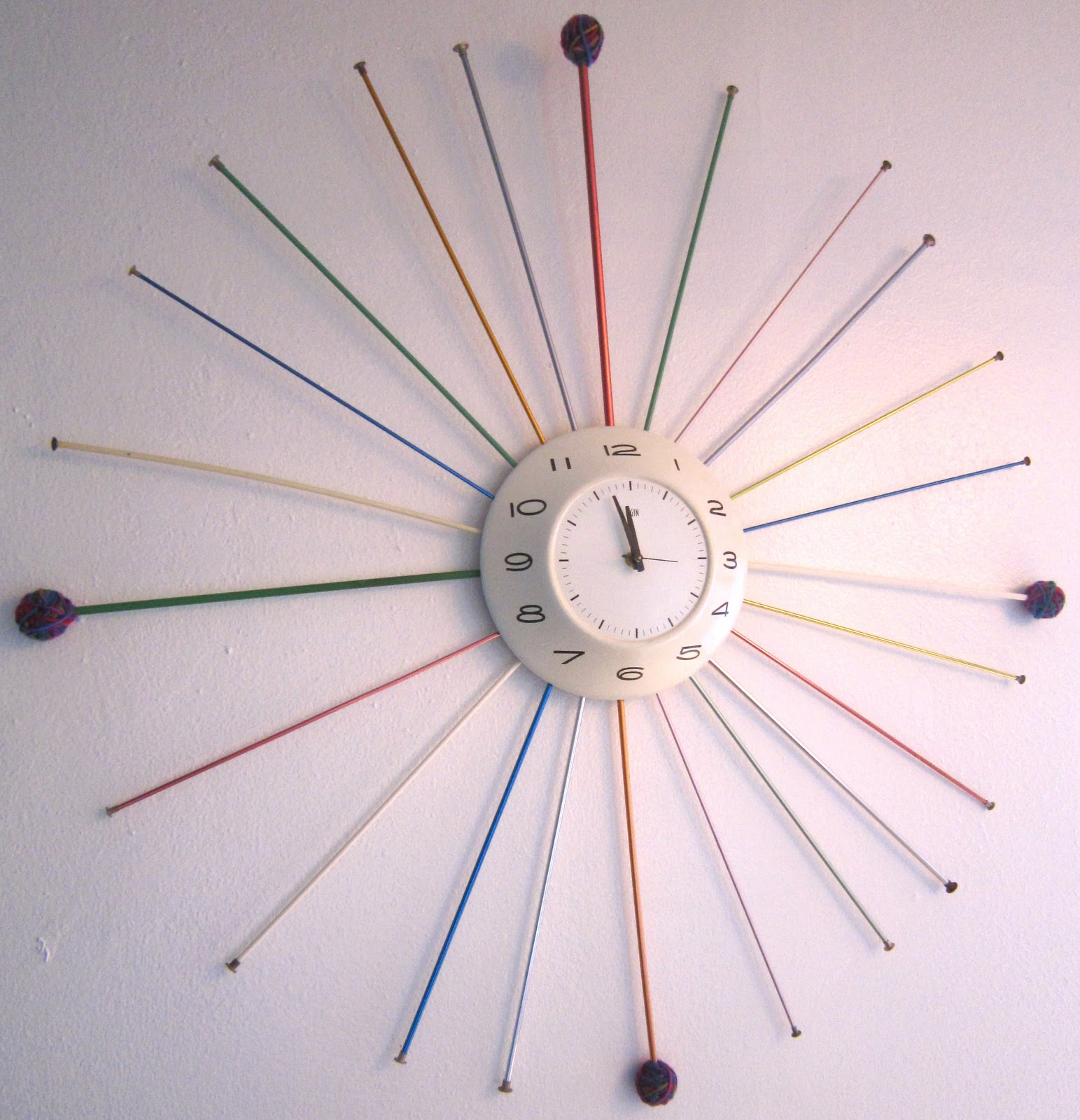 I Love To Create Midcentury Modern Knitting Needle Clock Jennifer Perkins  Jennifer Perkins
