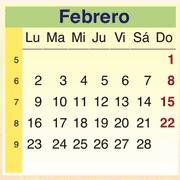 Calendario Febrero 2009
