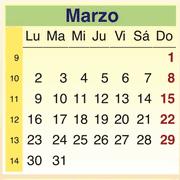 Calendario Marzo 2009