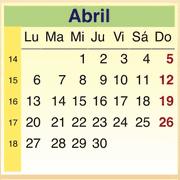 Calendario Abril 2009