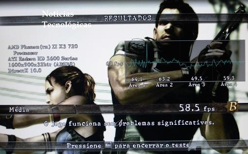 Resident Evil 5 benchmark na mobo ECS MCP61M M3