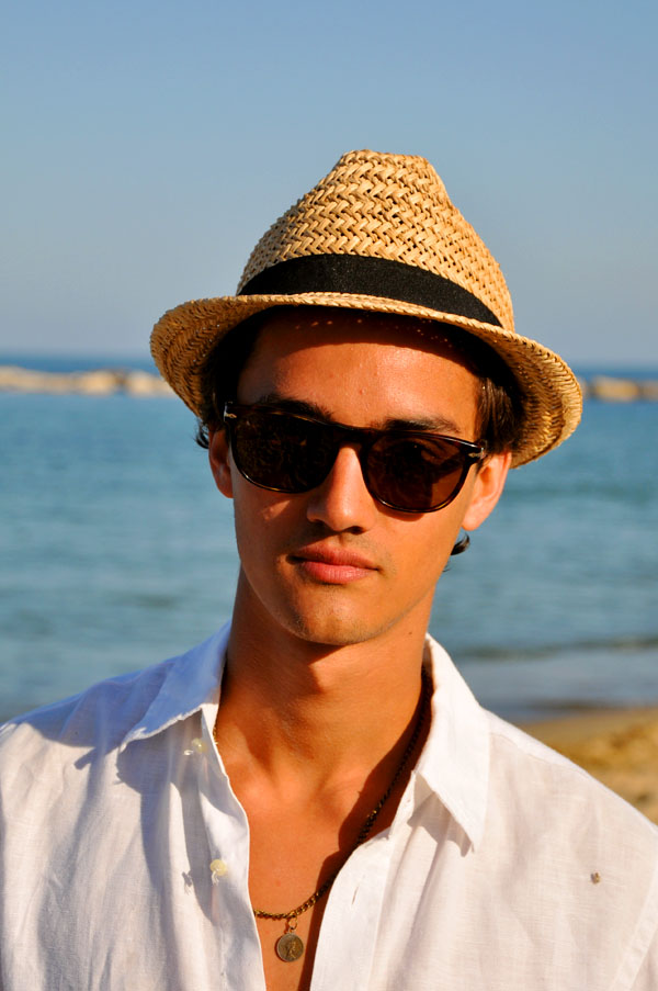 Persol 2869S sunglasses on a beach in Barcelona. Photo: Trendycrew