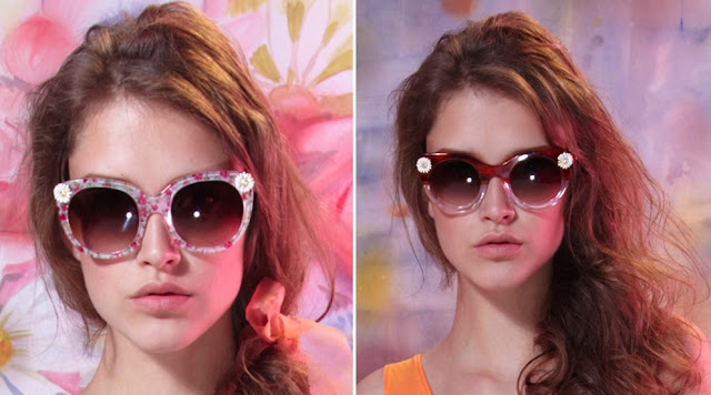 Sretsis Floral Pink Daisy Vulgary sunglasses (left) and Sretsis Crystal Brown Daisy Asphixy sunglasses (right) 2010