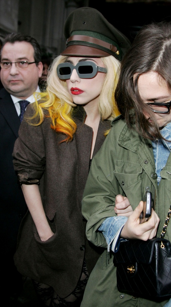 Lady Gaga wears Edeneyes sunglasses by Herr Von Eden and Mykita