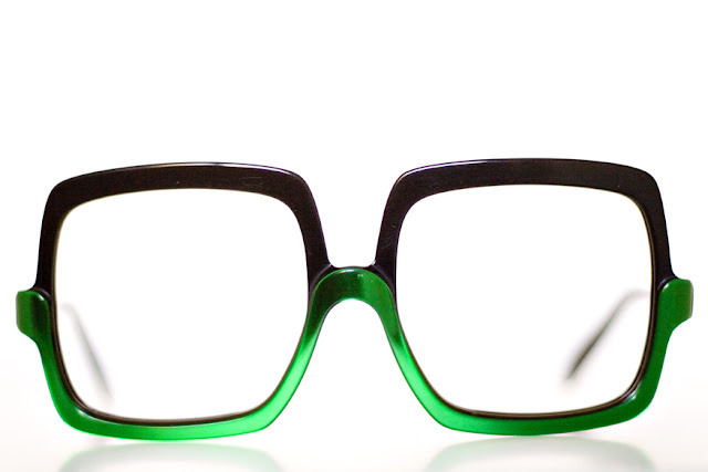 1970s vintage Rodenstock square sunglasses. Photo: Chirs M