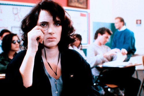 Winona Ryder in Heathers wearing a vaguely cool monocle